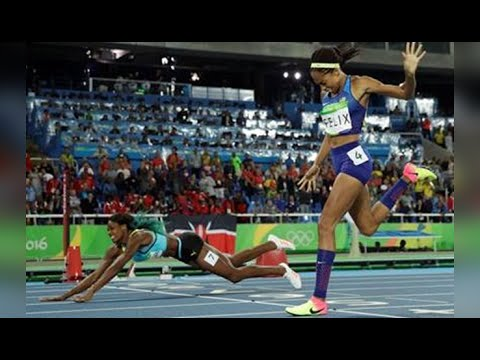 Olympics | Shaunae Miller Dives Over Finish Line to Win Gold
