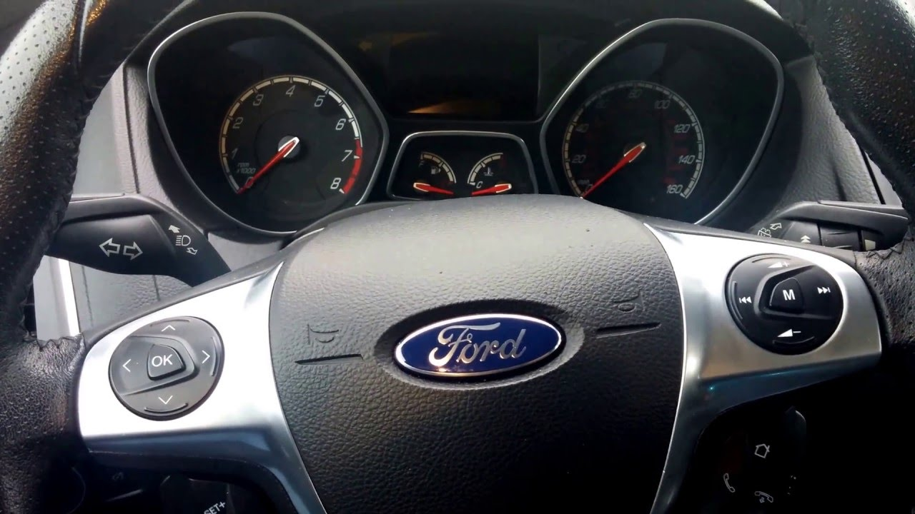 Ford Oil Change >> FORD - OIL Change Required RESET (start/stop button) Cmax, Fusion,FOCUS - YouTube
