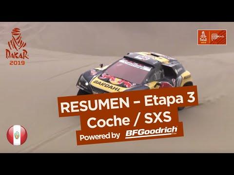 Resumen - Coche/SxS - Etapa 3 (San Juan de Marcona / Arequipa) - Dakar 2019