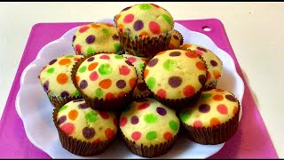 Polka Dots Cupcake Without Oven & With Oven || Easy Method