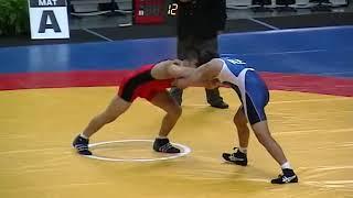 55KG Henry Cejudo (USA) Vs Besik Kudukhov (RUS) - 2005 Junior World Championships