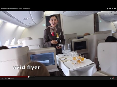 ASIANA A380 Business Smartium Class - First Review!
