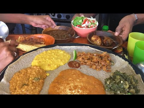 Ethiopian Food – Balinjera HOTTEST RESTAURANT in Tel Aviv, Israel. Street Food From Ethiopia!