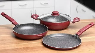 Prestige omega festive nonstick Cookware prestige nonstick set of 3 with lid low price cookware