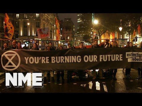 """Inside Extinction Rebellion's London protest: """"The way to get change done is to cause a stir"""":"""
