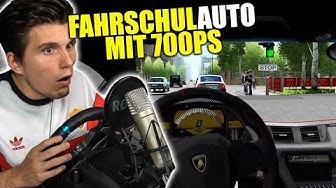 Lamborghini Aventador (700PS) als FAHRSCHULAUTO ✪ Fahrschul-Simulator
