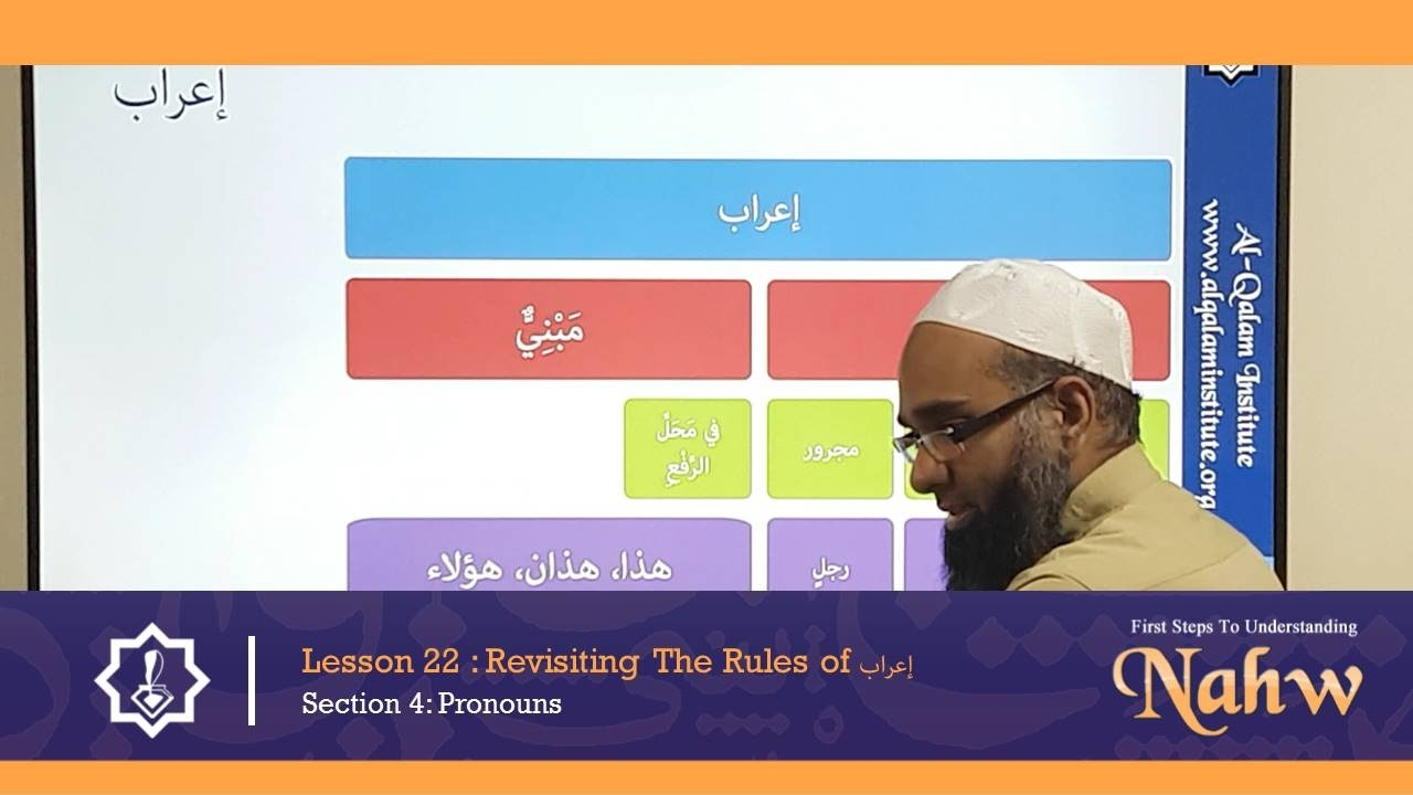 First Steps To Understanding Nahw 22: Revisiting The Rules of إعراب