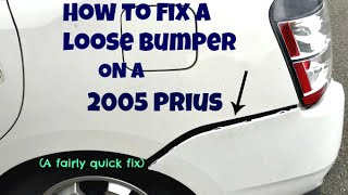 How to Fix Rear Bumper/Retainer on 2005 Prius