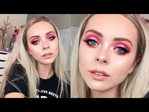 STRAWBERRY GLITTER MAKEUP TUTORIAL