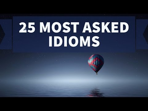 25 most important Idioms for SSC CGL and SBI PO