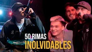 50 Rimas INOLVIDABLES que todos AMAMOS!   Batallas De Gallos (Freestyle Rap)