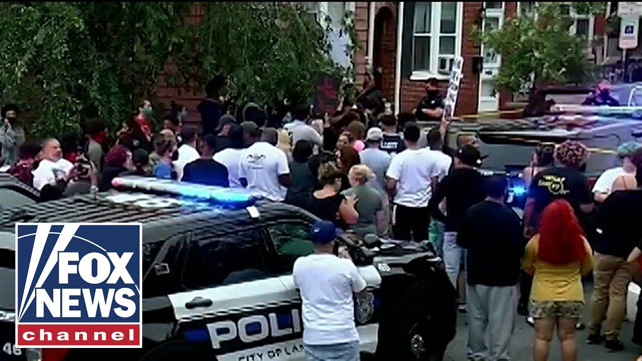 Lancaster police shooting: Protests erupt after knife-wielding man ...