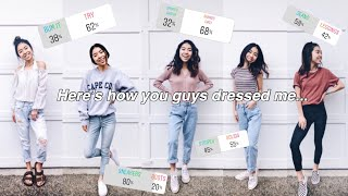 I LET MY INSTAGRAM FOLLOWERS DRESS ME FOR A WHOLE WEEK AND HERE'S WHAT HAPPENED
