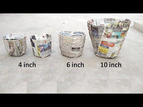 """Newspaper Plant Pots 4"""", 6"""" & 10"""" ! Newspaper pots"""