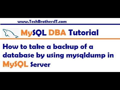 how-to-take-a-backup-of-a-database-by-using-mysqldump-in-mysql-server---mysql-dba-tutorial