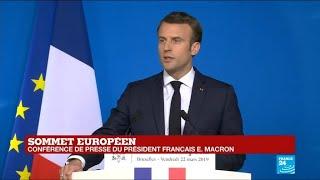Conférence de presse: Macron met en garde contre une prise en otage de l'UE par le Brexit