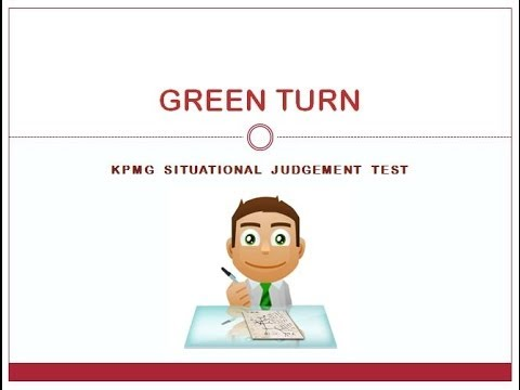 KPMG Situational Judgement Test: KPMG SJT KPMG PAPI Question