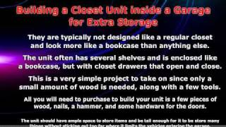 How To Build Your Own Garage Storage