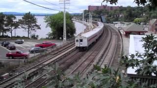 Metro North & Amtrak at Scarborough, NY: September 14, 2013