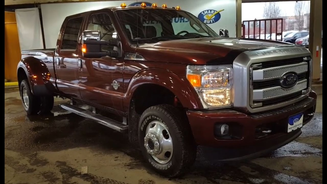 2016 Bronze Ford Super Duty F 350 Dually 4x4 Crew Cab Lariat Platinum Review Prince George Motors