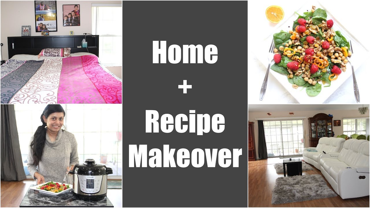 Home + Recipe Style Makeover Video | Spinach Walnut Raspberry Salad with Chickpeas Bhavna's Kitchen