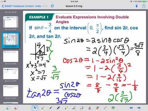 5.5 Double and Half-Angle Identities (Trig)