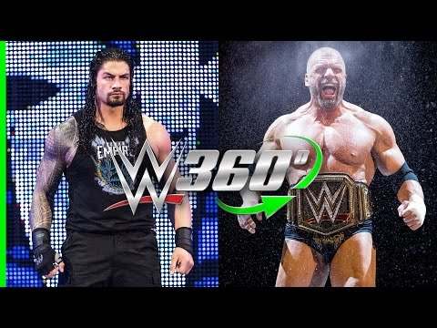 See Triple H's entrance and Roman Reigns' return on Raw in 360! thumbnail
