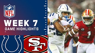 Colts vs. 49ers Week 7 Highlights   NFL 2021
