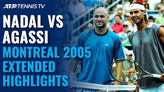 Rafael Nadal vs Andre Agassi: Classic Tennis Highlights | Montreal 2005 Final