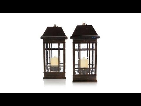 HGTV HOME Set of 2 San Rafael II Solar Lanterns