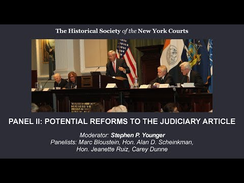 Potential Reforms to the Judiciary Article — Panel Discussion