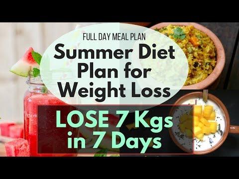 Full Day Diet/Meal Plan for Summer Part II | Weight Loss Diet Plan for Summer | Lose 7 Kgs in 7 Days