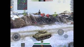 World of Tanks Blitz Noob game play first time on Ipad Air2