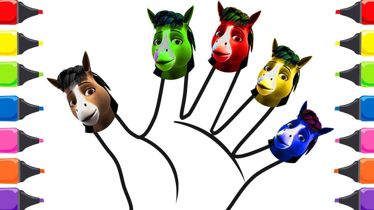 Doru Atı çizgi Film Renkleri öğreniyorum Yılkı çizgi Film Boyama