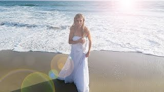 EPIC DARE, WIFE JUMPS IN THE OCEAN IN WEDDING DRESS - (DAY 94)
