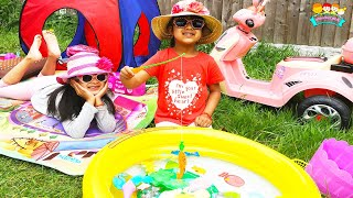 Surprise Picnic Party Pretend Play by Ashu and Cutie | Katy Cutie Show