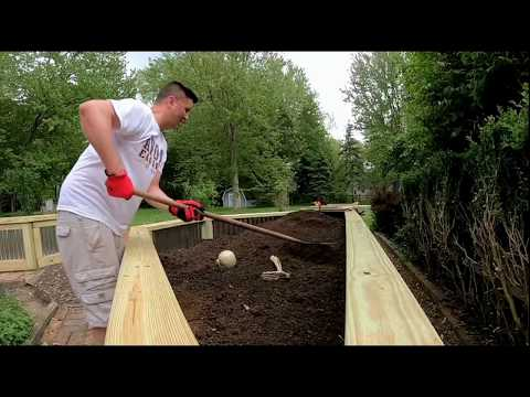 How to make corrugated steel garden beds 1080