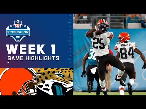 Cleveland Browns vs. Jacksonville Jaguars | Preseason Week 1 2021 NFL Game Highlights