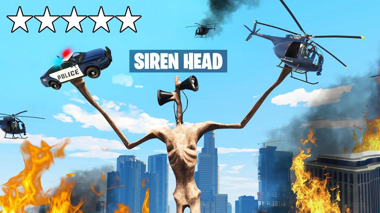 Playing GTA 5 As SIREN HEAD! (Insane) thumbnail