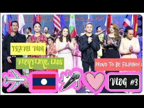VIENTIANE, LAOS TRAVEL VLOG | ASEAN 50TH YEAR CELEBRATION | VLOG #3