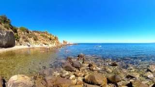 Spiaggia - Camping Rais Gerbi a Finale di Pollina (PA),  Sicilia - Video 360
