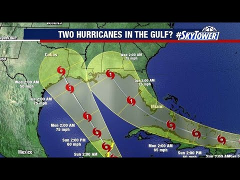 Marco and Laura forecast to hit Gulf Coast as back-to-back ...