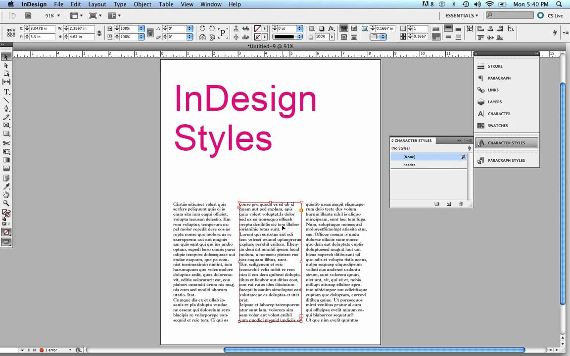 InDesign Object Styles - YouTube