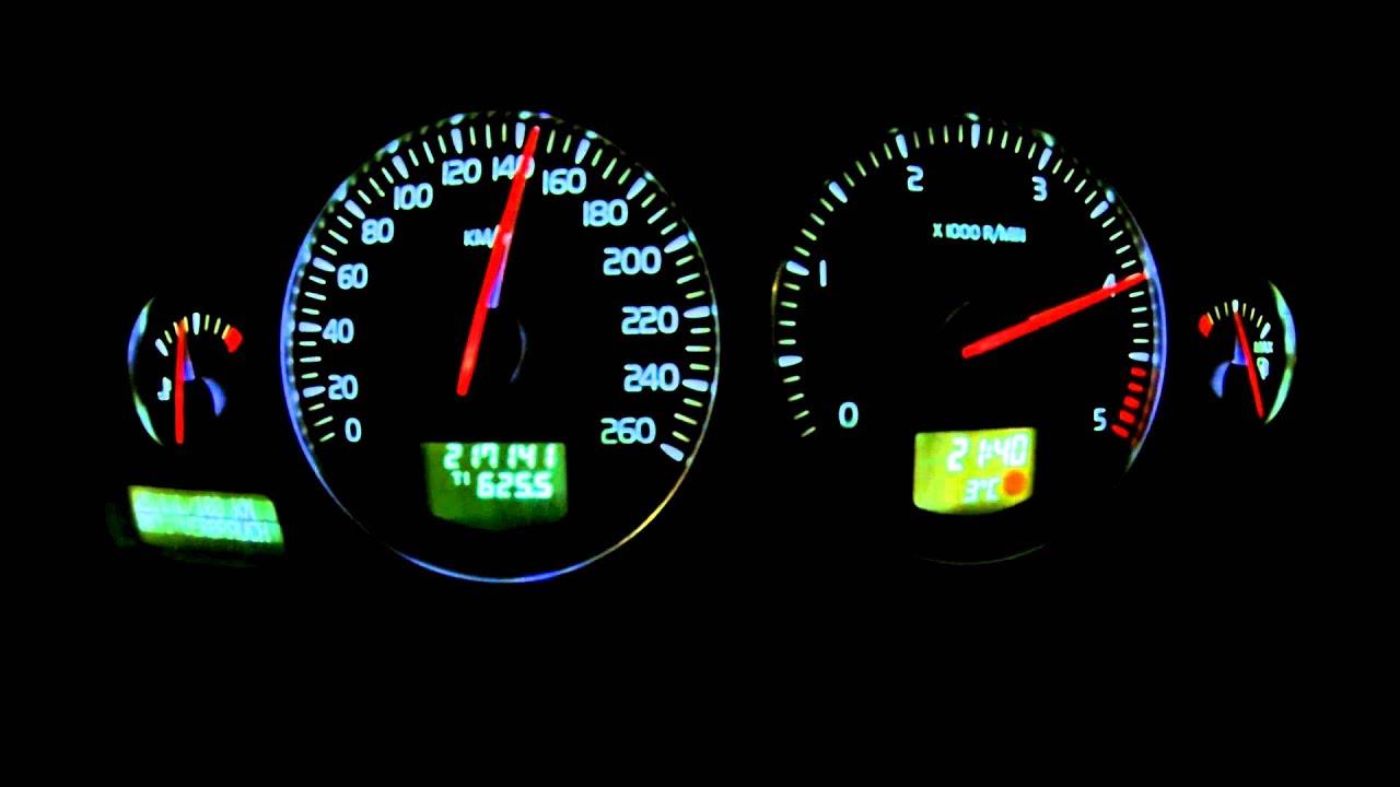 Volvo V70 D5 2.4 sel - 0-200 km/h acceleration - YouTube