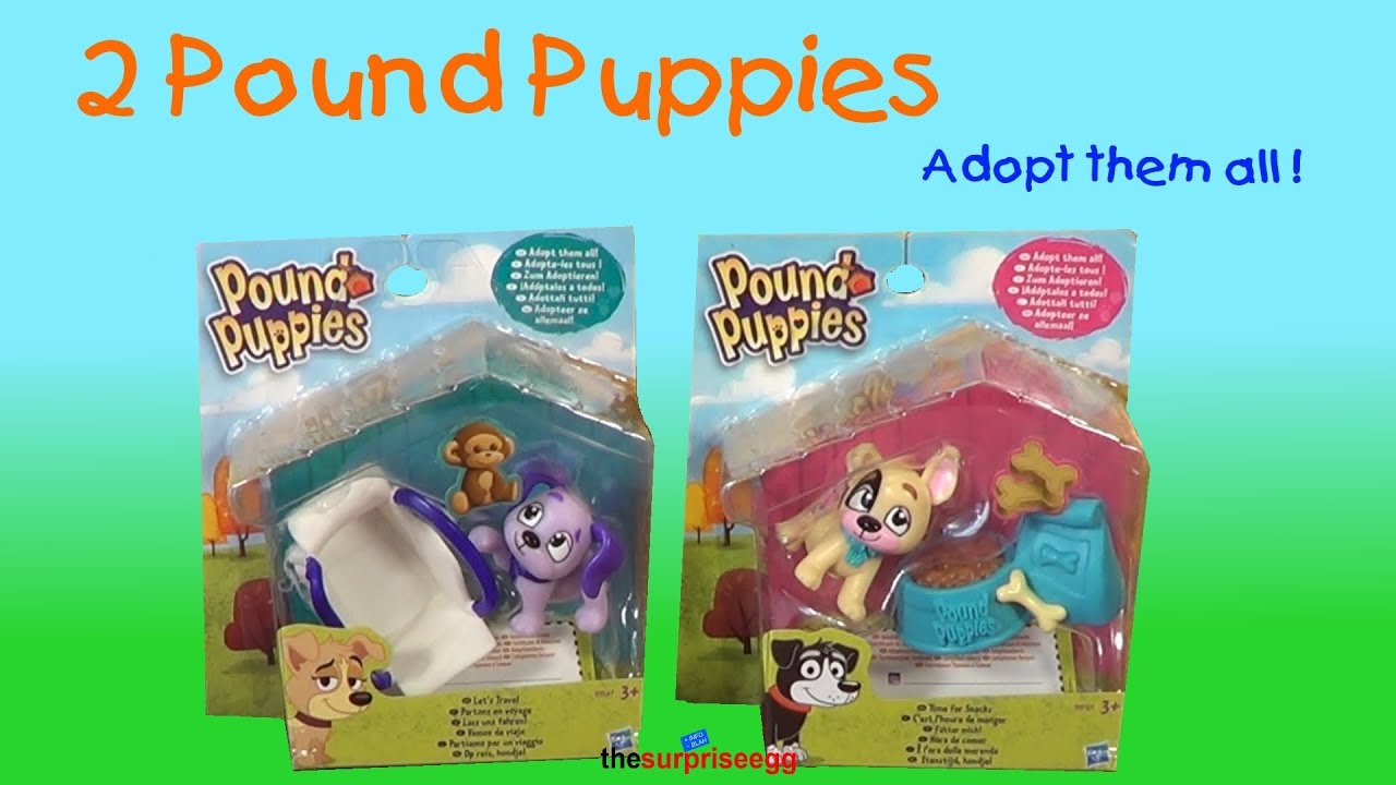 2 Pound Puppies PUP Sets Lets Travel and Time for Snacks Hasbro