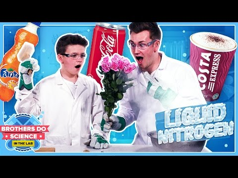LIQUID NITROGEN VS DRINKS | Brothers Do Science: In The Lab
