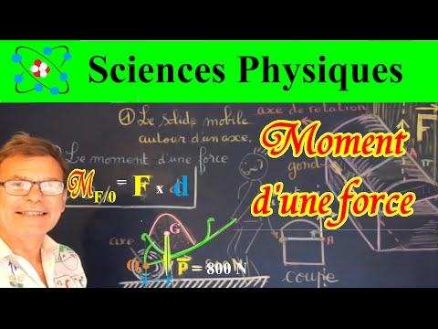 Sciences Physiques sur le moment d'une force