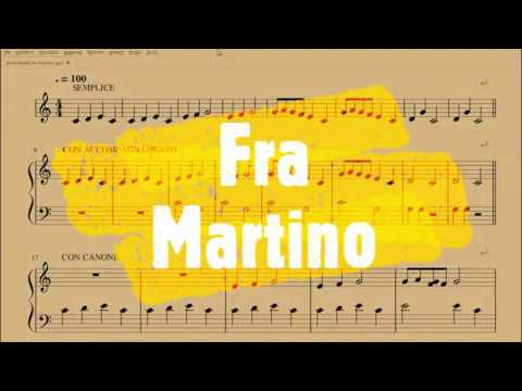 Fra Martino Campanaro Spartito Per Pianoforte