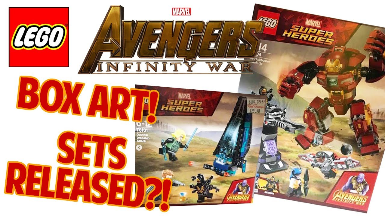 Lego Avengers Infinity War Ausmalbilder: LEGO MARVEL Avengers Infinity War Sets Released?! BOX ART