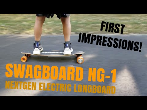 Swagboard NG-1 First Impressions! Awesome $300 Electric Skateboard! - tylerf